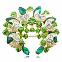 cheap Brooches-Women's - Crystal Fashion Brooch Green / Blue For Party / Daily