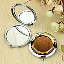 hesapli Kişiselleştirilmiş Yenilikçi Ürünler-Kişiselleştirilmiş Hediye Kalp Desenli Krom Kompakt Ayna