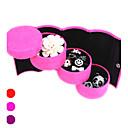 hesapli Ev Dekorasyonu-Tekstil Plastik Oval Çok Fonksiyonlu Ev organizasyon, 1pc Pudełka na biżuterię
