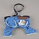 hesapli Köpek Giyim ve Aksesuarları-Köpek Pantolonlar Köpek Giyimi Kotlar Mavi Pamuk Kostüm Evcil hayvanlar için Yaz