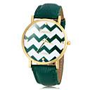 cheap Women's Watches-Women's Wrist Watch Quartz Hot Sale PU Band Analog Stripes Fashion Black / White / Blue - Red Green Light Blue