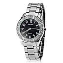 hesapli Kadın Saatleri-Erkek Kadın's Unisex Elbise Saat Quartz Bant Analog Gümüş / Altın Rengi - Altın Beyaz Siyah