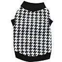 preiswerte Bekleidung & Accessoires für Hunde-Katze Hund T-shirt Hundekleidung Schwarz/Weiß Baumwolle Kostüm Für Haustiere