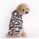 ieftine Câini Gulere, hamuri și Curelușe-Câine Hanorace cu Glugă Îmbrăcăminte Câini camuflaj Verde Bumbac Costume Pentru Primăvara & toamnă Iarnă Bărbați Pentru femei Sport Modă