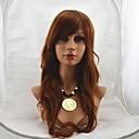 preiswerte Make-up & Nagelpflege-Synthetische Perücken Wellen Synthetische Haare 24 Zoll Braun Perücke Damen Kappenlos Mittleres Kastanienbraun