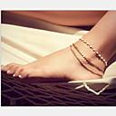 hesapli Küpeler-Ayak bileziği - İnci, İmitasyon İnci Eşsiz Tasarım, Avrupa, Moda Altın Uyumluluk Yılbaşı Hediyeleri / Parti / Günlük
