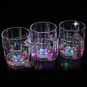 preiswerte Ausgefallene LED-Lichter-1pc LED-Nachtlicht LED-Tassen & Gläser Batterie Wasserfest