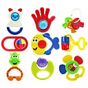رخيصةأون ملصقات ديكور-جودة عالية ABS مضحك الملونة متعدد الشكل الرضع طفل رضيع خشخيشات handbell لعب اطفال ورضيع 9PCS / مجموعات