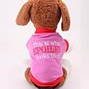 رخيصةأون ملابس وإكسسوارات الكلاب-كلب T-skjorte ملابس الكلاب قطن كوستيوم من أجل الصيف الكوسبلاي