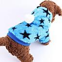 preiswerte Bekleidung & Accessoires für Hunde-Hund Mäntel Hundekleidung Sterne Blau Rosa Baumwolle Terylen Kostüm Für Haustiere