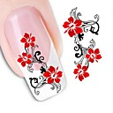 cheap Makeup & Nail Care-1 pcs 3D Nail Stickers Water Transfer Sticker nail art Manicure Pedicure Flower / Wedding / Fashion Daily