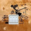 Χαμηλού Κόστους Διακοσμητικά αυτοκόλλητα-Άνθρωποι Αυτοκολλητα ΤΟΙΧΟΥ Αεροπλάνα Αυτοκόλλητα Τοίχου Αυτοκόλλητα Διακόπτων Φωτών, Βινύλιο Αρχική Διακόσμηση Wall Decal Τοίχος