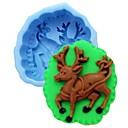 preiswerte Backzubehör & Geräte-Weihnachten Elch Hirsch Fondantkuchen Schokolade Silikonform Kuchen Dekorationswerkzeuge, l10cm * w8.5cm * h4cm