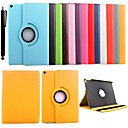cheap Bathroom Gadgets-Case For Apple with Stand / 360° Rotation Full Body Cases Solid Colored PU Leather for iPad Air 2