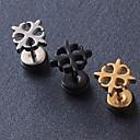 hesapli Küpeler-Kadın's Vidali Küpeler - Titanyum Çelik Moda Siyah / Gümüş / Altın Uyumluluk Yılbaşı Hediyeleri / Düğün / Parti