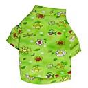 preiswerte Backzubehör & Geräte-Blumenmuster Terylene T-Shirt für Hunde (grün XS-L)