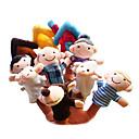 preiswerte Marionetten und Handpuppen-Schaf Fingerpuppen Marionetten Niedlich Neuartige lieblich Zeichentrick Textil Plüsch Mädchen Spielzeuge Geschenk 10 pcs