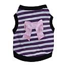 ieftine Broșe-Pisici Câine Tricou Îmbrăcăminte Câini Dungi Inimă Mov Roz Bumbac Costume Pentru Primăvara & toamnă