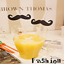ieftine Inele-4PCS Creative Black Beard Stache Straws