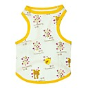 cheap Dog Clothing & Accessories-Cat Dog Shirt / T-Shirt Dog Clothes Animal Cartoon Yellow Cotton Costume For Summer