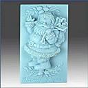 preiswerte Backzubehör & Geräte-Weihnachten Santa Claus Fondantkuchen Schokolade Silikonform Kuchen Dekorationswerkzeuge, l8.6cm * w5.6cm * h3.3cm