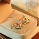 preiswerte Ohrringe-Purpur Weiß Purpur Weiß Kristall - Krone Klassisch Golden Für Party