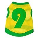 preiswerte Hundespielsachen-Katze Hund T-shirt Pullover Trikot Hundekleidung Buchstabe & Nummer Gelb Terylen Kostüm Für Haustiere Klassisch