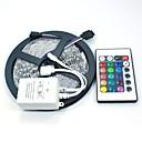 hesapli Kolyeler-5m Esnek LED Şerit Işıklar / Işık Setleri / RGB Şerit Işıklar LED'ler 5050 SMD RGB Uzaktan Kontrol / Kesilebilir / Kısılabilir 12 V / Bağlanabilir / Kendinden Yapışkanlı / Renk Değiştiren / IP44