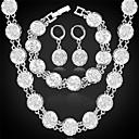 preiswerte Halsketten-Schmuck-Set - Platiert, vergoldet damas Einschließen Silber / Golden Für Hochzeit Party Alltag / Ohrringe / Halsketten / Armband