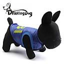 preiswerte Bekleidung & Accessoires für Hunde-Hunde / Katzen - Winter - Terylen Blau - T-shirt - XS / S / M / L