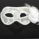 halpa Juhlatarvikkeet-Karnevaali Naamio Miesten Naisten Halloween Festivaali / loma asuja Valkoinen Yhtenäinen
