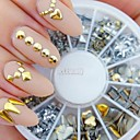 cheap Makeup & Nail Care-240pcs nail art golden mixed rivet shapes acrylic rhinestone