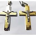 preiswerte Halsketten-Herrn Anhängerketten  -  Titanstahl, vergoldet Kreuz Silber, Golden Modische Halsketten Für Hochzeit, Party, Alltag