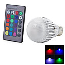 preiswerte Stirnlampen-1pc 3 W 300-500 lm E26 / E27 Smart LED Glühlampen 1 LED-Perlen Integriertes LED Ferngesteuert / Dekorativ / Farbverläufe RGB 85-265 V / RoHs