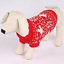 preiswerte Bekleidung & Accessoires für Hunde-Katze Hund Pullover Hundekleidung Weihnachten Schneeflocke Rot Kostüm Für Haustiere