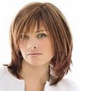 hesapli Makyaj ve Tırnak Bakımı-Sentetik Peruklar Kadın's Düz Kahverengi Bantlı Sentetik Saç Yüksek Kalite Kahverengi Peruk Orta Bonesiz Açık Kahverengi