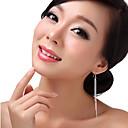 preiswerte Herrenuhren-Damen Quaste Tropfen-Ohrringe - Sterling Silber Quaste, Erklärung Farbbildschirm Für