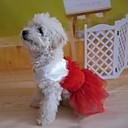 preiswerte Auto Innenleuchten-Kleider für Hunde Rot Sommer S / M / L / XL Baumwolle
