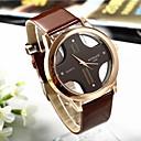 お買い得  メンズ腕時計-男性用 リストウォッチ クォーツ キルティングPUレザー ブラック / 白 / ブラウン ハンズ クラシック - ホワイト ブラック Brown 1年間 電池寿命 / SSUO 377
