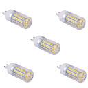 olcso LED betűzős izzók-YWXLIGHT® 5pcs 1500 lm G9 LED kukorica izzók T 60 led SMD 5730 Meleg fehér Hideg fehér AC 110V AC 220V
