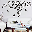 hesapli Ev Dekorasyonu-Çevre çıkarılabilir siyah rattan pvc duvar sticker