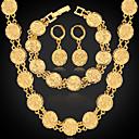 hesapli Yüzükler-Kadın's Takı Seti - Platin Kaplama, Altın Kaplama Dahil etmek Gümüş / Altın Uyumluluk Düğün Parti Günlük / Kolczyki / Kolyeler / Bilezik