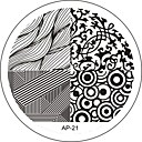 voordelige Nagelstempels-Abstract - Vinger/Teen/Andere Metaal - 1 - stuks 6x6 - (cm)