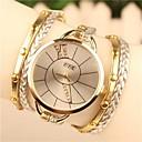 저렴한 쥬얼리 세트-여성용 팔찌 시계 석영 뜨거운 판매 가죽 밴드 아날로그 보헤미안 패션 드레스 시계 화이트 / 블루 / 브라운 - 그린 골든 1# 1 년 배터리 수명 / SODA AG4