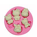 tanie Przybory i gadżety do pieczenia-Narzędzia do pieczenia Silikonowy Ekologiczne / 3D Tort / Ciasteczka / Placek Zwierzę Forma do pieczenia 1szt