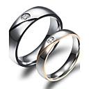 hesapli Yüzükler-Kadın's Çift Yüzükleri - 18K Altın Kaplama, Altın Kaplama Moda 5 / 6 / 7 / 8 / 9 Uyumluluk Düğün Parti Günlük / Zirkon