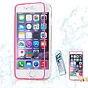 hesapli iPhone 6s / 6 İçin Ekran Koruyucular-Pouzdro Uyumluluk Apple iPhone 6 iPhone 6 Plus Şeffaf Tam Kaplama Kılıf Tek Renk Yumuşak TPU için iPhone 6s Plus iPhone 6s iPhone 6 Plus