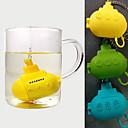 billige Utstyr til te-søt ubåt te infuser silikon urte filter filter