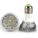 hesapli LED Aksesuarlar-6W 300-350lm E26 / E27 LED Par Işıklar PAR20 3 LED Boncuklar Yüksek Güçlü LED Sıcak Beyaz / Serin Beyaz 100-240V / 85-265V
