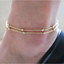 preiswerte Broschen-Perlen Fußkettchen Armband Körperring Fuß Strand Schmuck